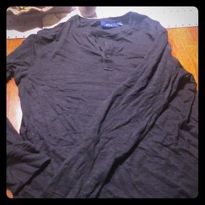 Men's APT.9 long sleeve black shirt